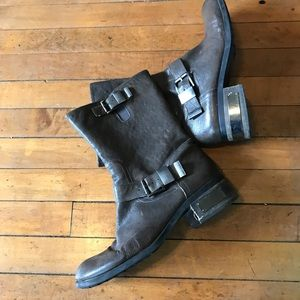 Vince Canute, Brown Leather boots size 10
